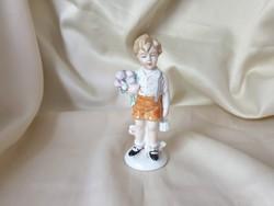 GDR Porcelán gyerek
