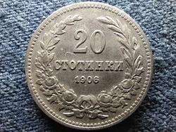 Bulgária I. Ferdinánd (1887-1918) 20 Stotinki 1906 (id13185)
