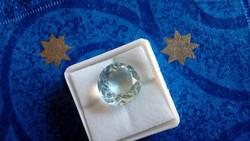 7.80 karátos gyémánt formájú kék akvamarin drágakő tanúsítvánnyal