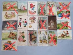 Gyönyörű szép antik Húsvét képeslap képeslapok
