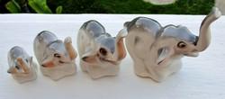 Régi porcelán elefánt család Kolozsvár
