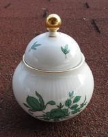 Seltmann Weiden Bavaria bonbonier _ cukortartó - zöld virágmintával