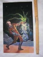 A. E. Van Vogt: Linn varázslója című könyvének eredeti borítófestménye