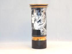Hollóházi Szász Endre váza (Napfény) 20 cm.