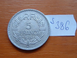 FRANCIA 5 FRANCS FRANK 1949 / B B (Beaumont-le-Roger) CLOSED 9 ALU. S386