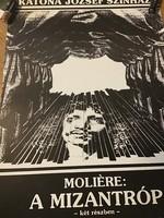 A Katona József Színház Mizantróp előadásának közepes méretű plakátja