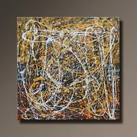 Vörös Edit: Jackson Pollock Style Abstract N21001 80x80cm