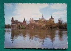 Magyarország,Budapest,Vajdahunyad vára,használt képeslap,1986