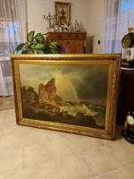 Persian Antal monumentális Biedermeier festménye! 115x160cm!!!
