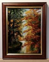 Czinóber - Egy pillanat, ami megragadt ( 18 x 24, olaj, gyönyörű, új keretben )