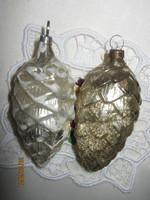 2 Régi ezüst toboz  karácsonyfa dísz