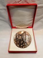 XX. Kerületi Tanács Társadalmi Munkáért bronz plakett