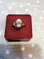 Ezüst gyűrű gyönggyel