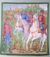 Postamúzeum,Kapros Kósa Edit: II. Rákoczi Ferenc postalegényei textilkép