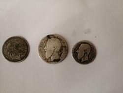 3 darab ezüst pénz egyben
