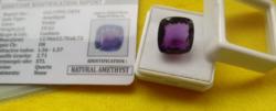 Bomba ajánlat!  Párna alakú lila Ametiszt 10.62Ct tanúsítvánnyal!!
