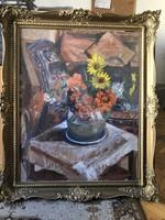 Festmény, Varga Ferenc Amerikában élt diszletterező 1947-es alkotása
