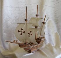 Santa Maria hajó makett -antik