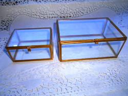 2 db  réz szerelékkel  üveg  doboz együtt- az ár a 2 db-ra vonatkozik