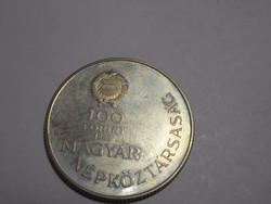 Réz-cink ötvözet, 100 Forint emlékérme, 1983.