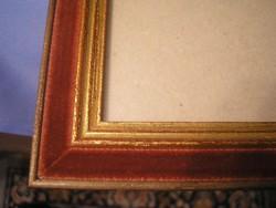 Bársony keretes kép vagy tükör tartó 27 X 21 CM