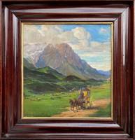 Teljes hagyaték aukción! Nagy méretű Pauly Erik (1870-?) olaj,vászon festmény! Gyönyörű 1 Ft-ról!