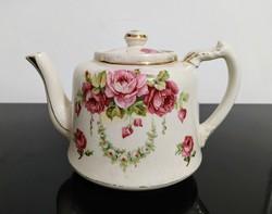 Angol, vintage, fajansz érett teáskanna