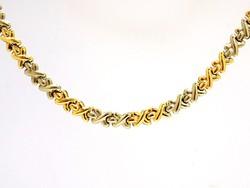 Sárga-fehér arany nyakék (ZAL-Au98197)