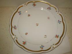 ILMENAU CARMEN C2036 porcelán szegélyezett virágos tányér kínáló