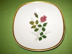 Bavaria SCHUMANN ARZBERG porcelán rózsás kínáló tál tányér hibátlan 19cm.