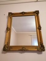 Eladó régi, antik hatású, aranyozott, Blondel keretes tükör!