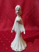 Aquincum porcelán figurális szobor, hófehérke, magassága 25 cm.
