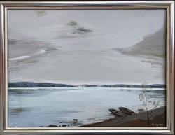Teljes hagyaték aukción! Nagy méretű Nagy Ernő Sándor (1926-) olaj,farost festmény Gyönyörű 1 Ft-ról