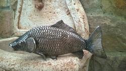 Ritka db.! ezüst színű hal forma szalvétatartó