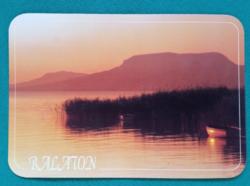 Balaton,naplemente,Tanúhegy,postatiszta képeslap