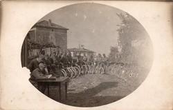 Kerékpáros csoportkép 1916 Isonzó front 4 honvéd gyalogezred kerékpáros osztag (nagyváradi volt)
