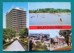 Balatonalmádi,Hotel Aurora,használt képeslap,1979
