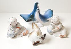 Zsolnay porcelán figurák egy csomagban.
