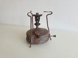 Vintage régi vörösréz réz Patent petróleum spiritusz melegítő főző kályha