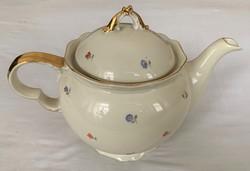 Drasche aranyozott, gömbölyded teás kanna, kancsó 210/3173 jelzéssel