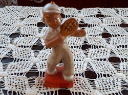 Ritkán látható Komlós kerámia teniszező fiú, törés, kopás mentes, 15 cm