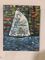 Kortárs absztrakt festmény a művésztől: Befutottunk címmel