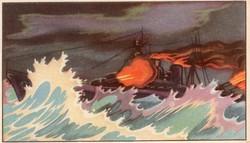 Gyűjthető grafikus katonai képeslap, N 7 De Royal Navy