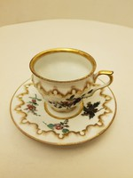 Antik, barokk stílusú porcelán csésze aljjal. Gyűjtői darab.