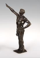 Lemaire jelzéssel - Bronz Olimpiai tisztelgő szobor