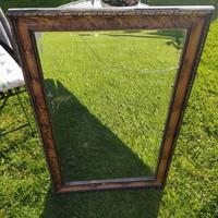 Fa keretes tükör csiszolt üveggel