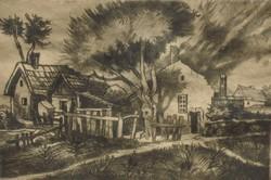 Remsey Jenő (1885-1980) : Faluszéli házak