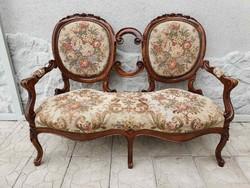 2 személyes barokk kanapé