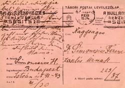 Tábori posta,  tábori posta szám 229/87, 19/4 k.ho.ko.Miskolc, 7.h.ker