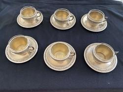 Ezüst kávés csészék eladók!